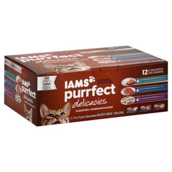 Iams Purrfect Delicacies Flaked Fish Variety Pack Cat Food
