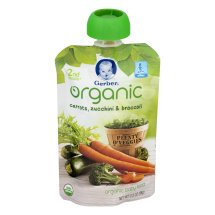Gerber Organic 2nd Foods Baby Food, Carrots, Zucchini & Broccoli, 3.5 oz Pouch