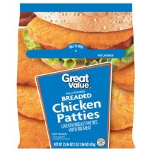 Great Value Southern Fried Chicken Breast Patties, 23.8 Oz