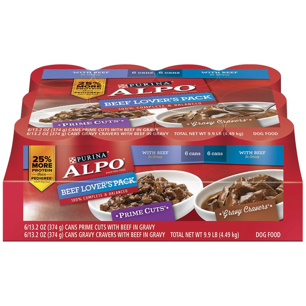 Alpo Wet Prime Cuts/Gravy Cravers Beef Lover's Pack Dog Food