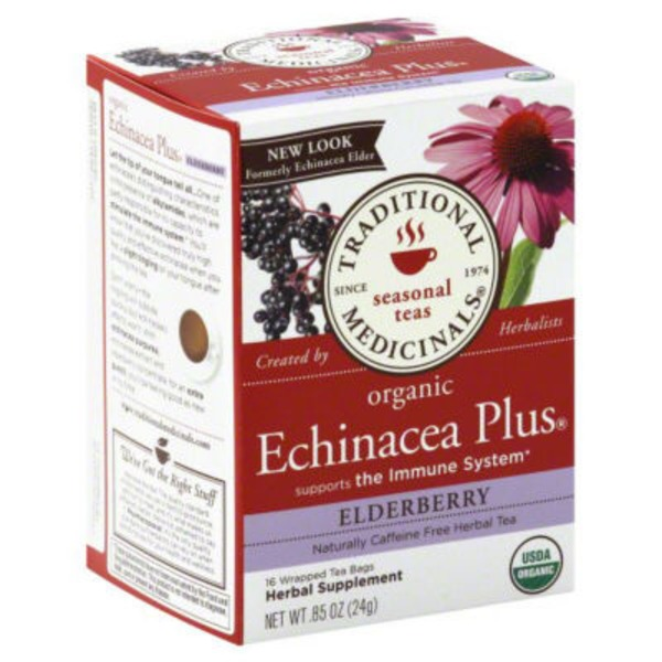 Traditional Medicinals Organic Echinacea Plus Caffeine Free Elderberry