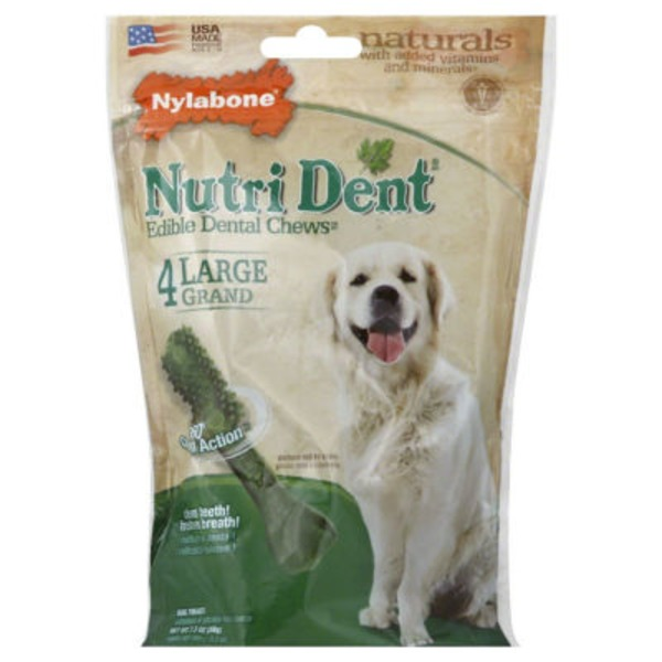 Nylabone Edible Dental Chews Large Dog Treats