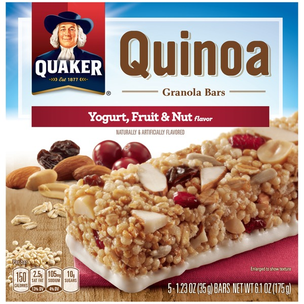 Quaker Qunioa Yogurt, Fruit & Nut Granola Bars