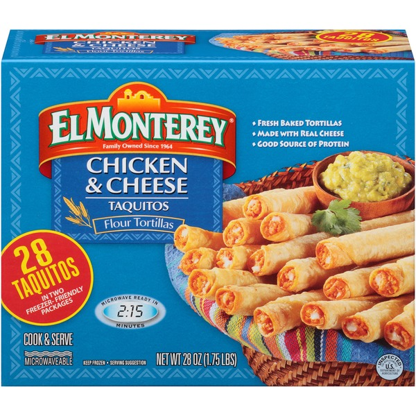 El Monterey Chicken & Cheese Flour Tortillas Taquitos