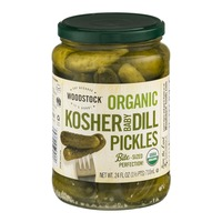 Woodstock Farms Organic Bite-Sized Kosher Baby Dill Pickles