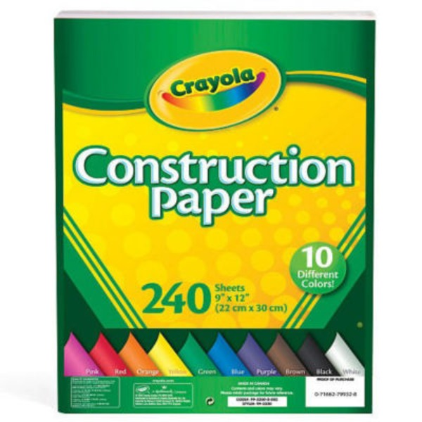 Crayola Construction Paper Pack 9