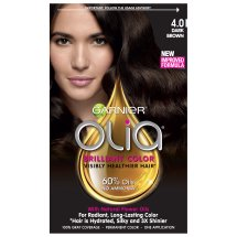 Garnier Olia Oil Powered Permanent Hair Color, 4.0 Dark Brown