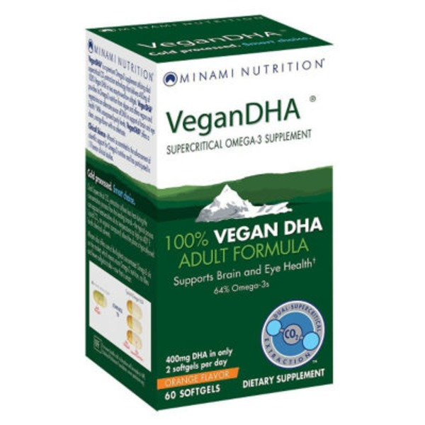 Minami Nutrition Vegan DHA Adult Formula Orange Flavor