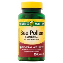 Spring Valley Bee Pollen Capsules, 550 mg, 100 Ct