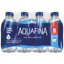 Aquafina Purified Water, 12 Fl Oz, 8 Count