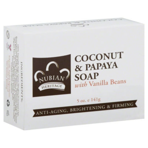 Nubian Heritage Coconut & Papaya Bar Soap