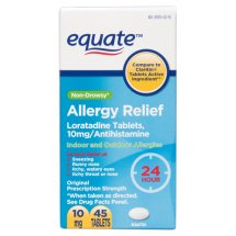 Equate Non-Drowsy Allergy Relief Loratadine Tablets, 10 mg, 45 Ct