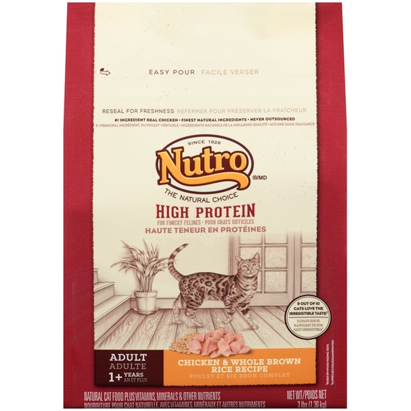 Nutro High Protein Adult Chicken & Whole Brown Rice Recipe Cat Food