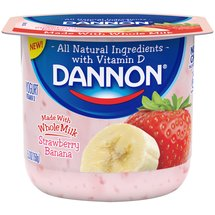 Dannon Strawberry Banana Whole Milk Yogurt