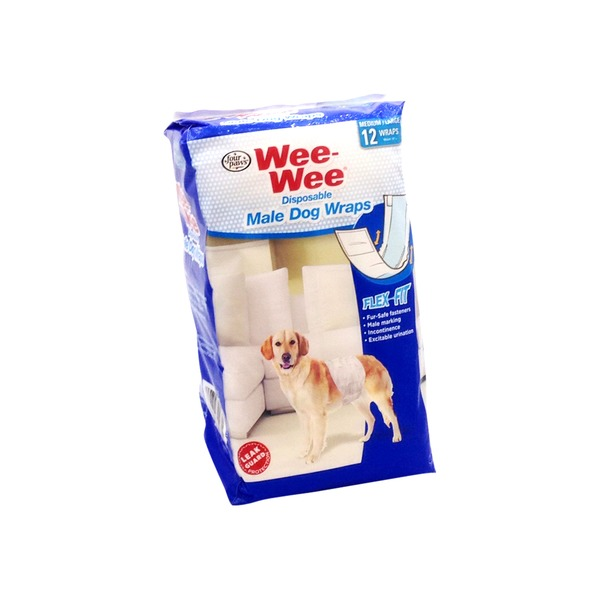 Four Paws Wee-wee Medium Disposable Male Dog Wraps