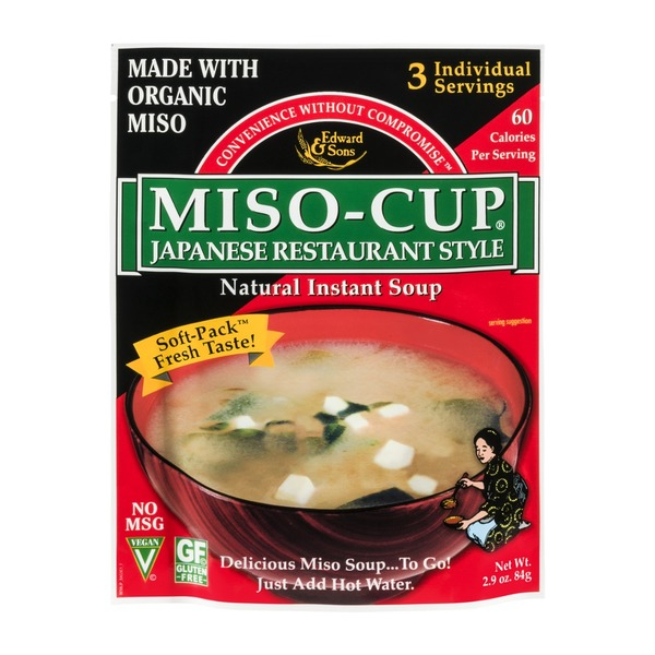 Edward & Sons Japanese Restaurant Style Miso-Cup Natural Instant Soup