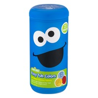 Sesame Street Fizzy Tub Colors Assorted - 150 CT