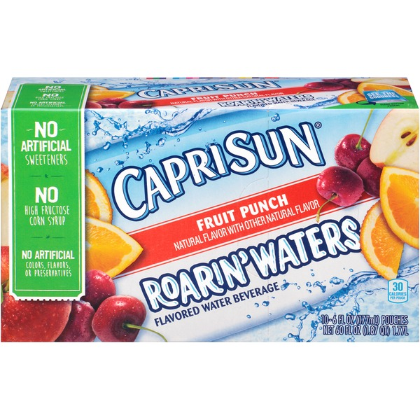 Caprisun Roarin' Waters Fruit Punch Flavored Water Beverage