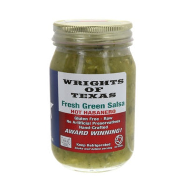 Wrights Of Texas Fresh Green Salsa Hot Habanero