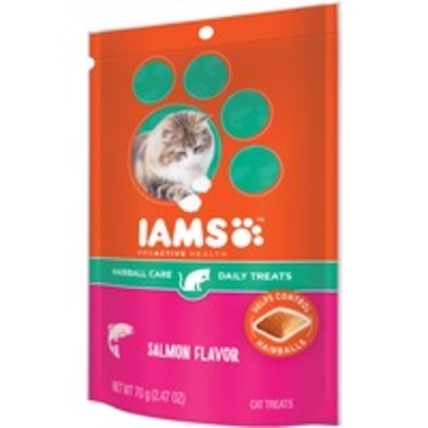 Iams ProActive Health Hairball Care Salmon Flavor Cat Treats