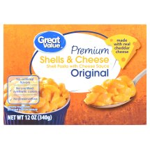 Great Value Premium Shells & Cheese, Original, 12 oz, 3 Count