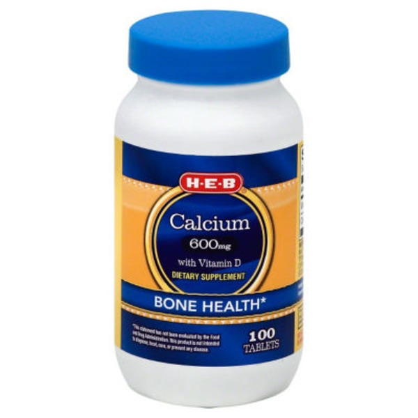 H-E-B Calcium 600 Mg With Vitamin D Tablets
