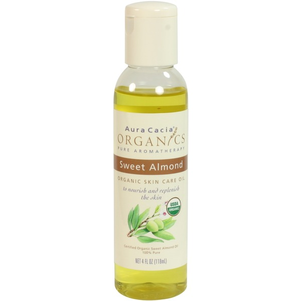 Aura Cacia Certified Organic Sweet Almond Skin Care Oil