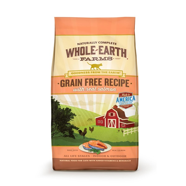 Whole Earth Farms Grain Free Real Salmon Cat Food 2.5 Lbs.