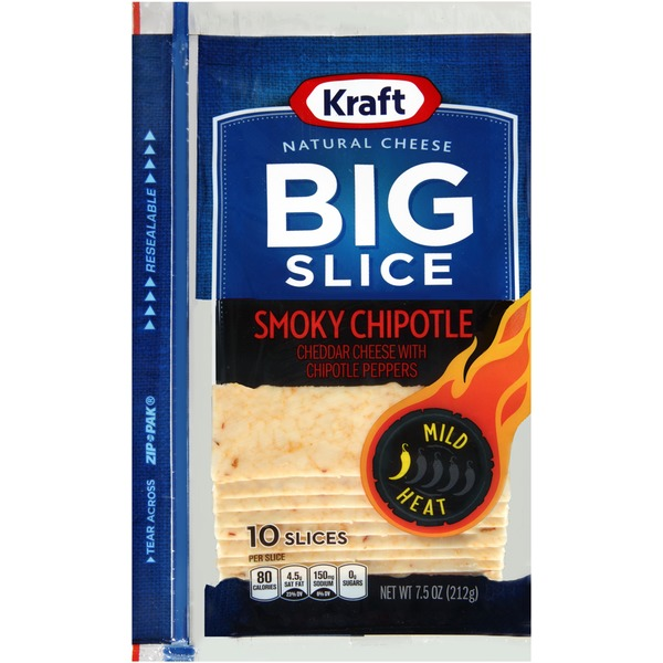 Kraft Natural Slices Big Slice Smoky Chipotle Slices Cheese