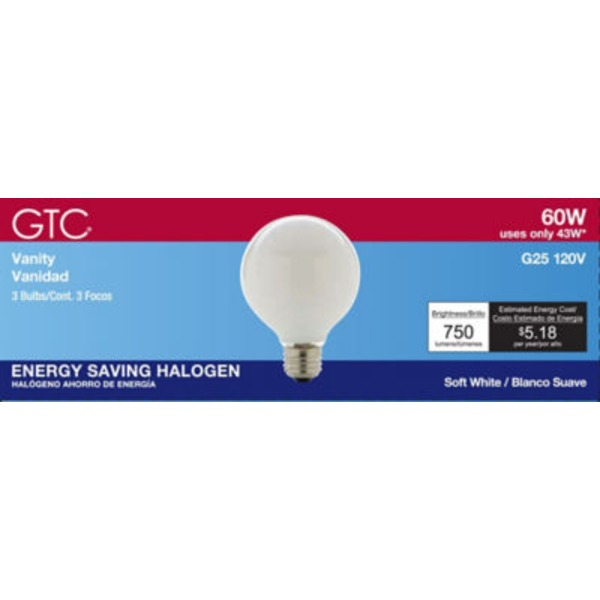 GTC Halo G25 43 W Soft White Medium Base Bulb