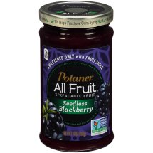 Polaner All Fruit Spreadable Fruit, Seedless Blackberry, 10 Oz