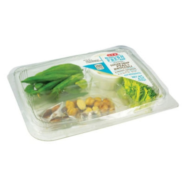 H-E-B Ready, Fresh, Go! Sugar Snap Peas & Broccoli Snack Tray