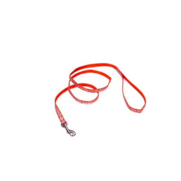 Coastal Pet 3/8 Inch Red Reflective Lead With Bone Print