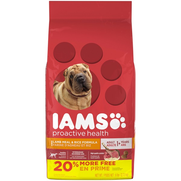 Iams ProActive Health with Grass Fed Lamb Adult 1+ Years Dog Food