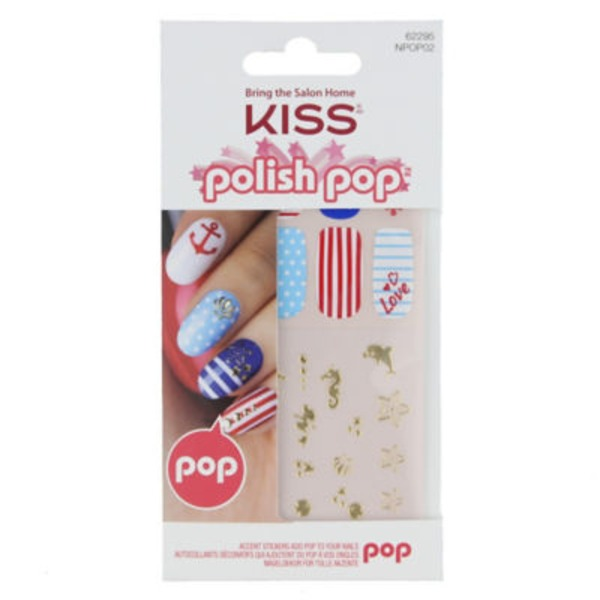 Kiss Polish Pop Nail Stickers Kit, Wisteria Lane