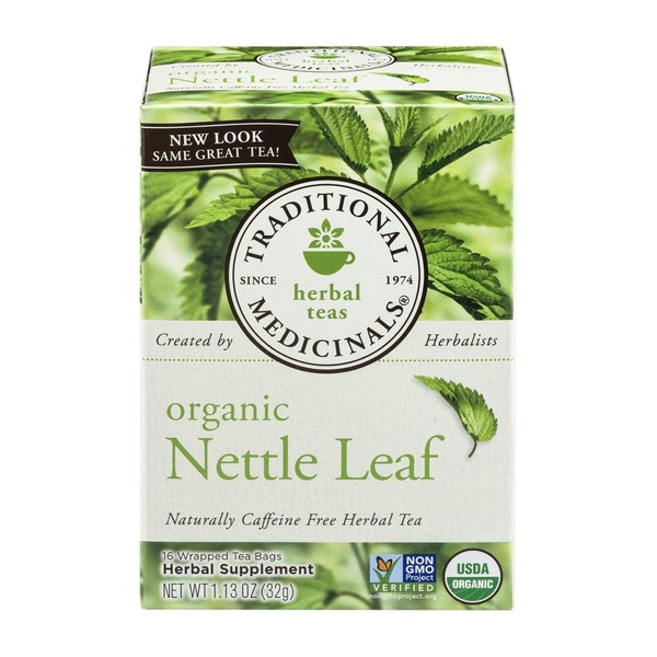 Traditional Medicinals Caffeine Free Herbal Tea Bags Organic Nettle Leaf - 16 CT