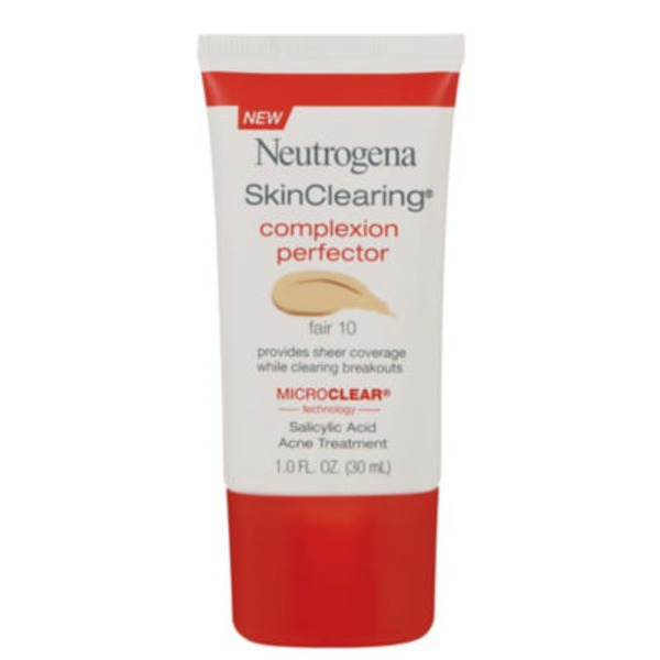 Neutrogena Acne Treatment, Salicylic Acid, Complexion Perfector, Fair 10