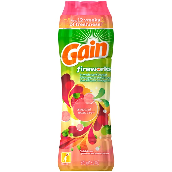 Gain Fireworks Gain Fireworks In-Wash Scent Booster, Tropical Sunrise Scent, 13.2 oz Fabric Enhancers