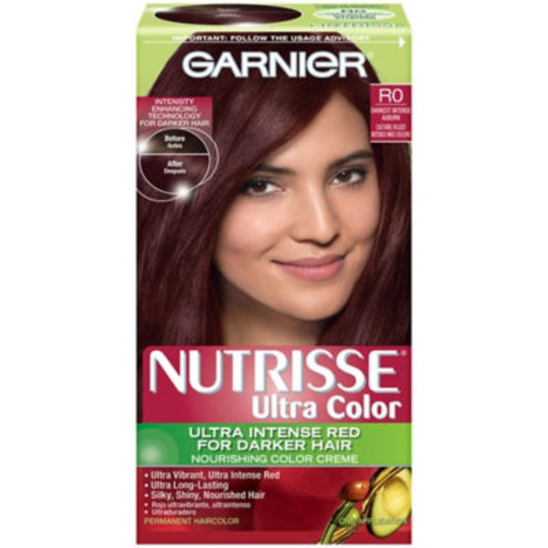 Nutrisse® Ultra Color Nourishing Color Creme R0 Darkest Intense Auburn Haircolor