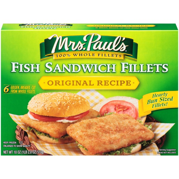 Mrs. Paul's Original Recipe Fish Sandwich Fillets