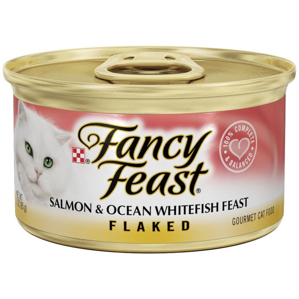 Fancy Feast Wet Flaked Salmon & Ocean Whitefish Feast Cat Food