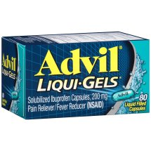 Advil Pain Reliever/Fever Reducer Liqui-Gels, 200 mg, 80 Ct