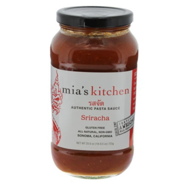 Mia's Kitchen Authentic, Sriracha Pasta Sauce