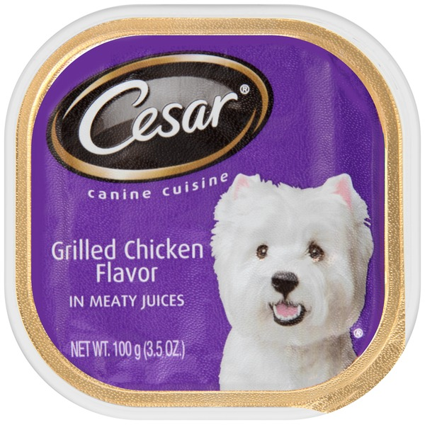 Cesar Grilled Chicken Flavor in Meaty Juices Wet Dog Food