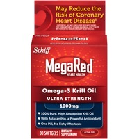 Megared Ultra Strength Omega-3 Krill Oil 1000mg Softgels Dietary Supplement