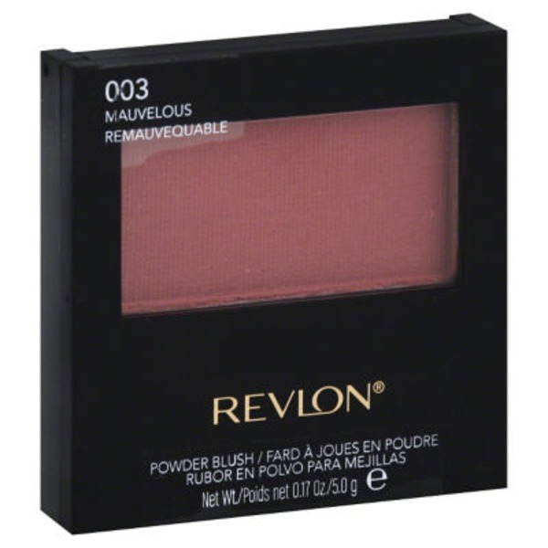 Revlon Powder Blush, with Brush, Mauvelous 003