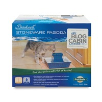 Pet Safe Drinkwell Blue Stoneware Pagoda Pet Fountain 70 Oz.