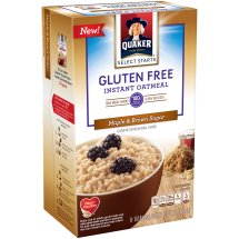 Quaker Instant Quaker Oatmeal, Gluten Free, Maple Brown Sugar, 1.51 Oz, 8 Ct