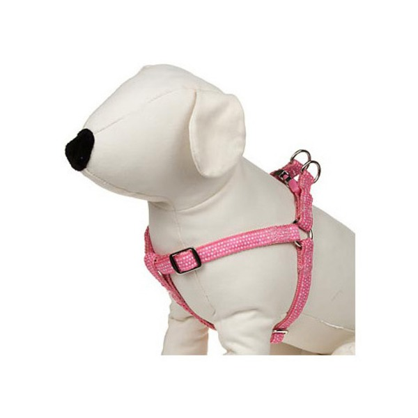 Petco Easy Step In Pink & White Dotted Dog Harness