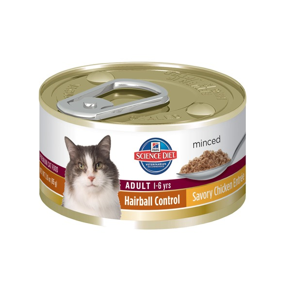 Hill's Science Diet Cat Food, Adult (1-6 Years), Savory Chicken Entree, Minced